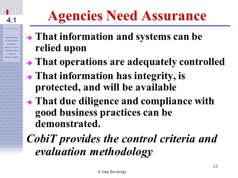 Agencies Need Assurance