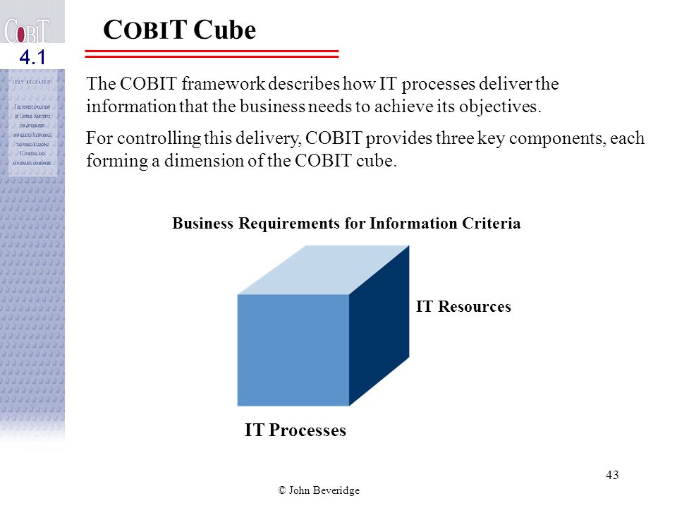 Business Requirements for Information Criteria