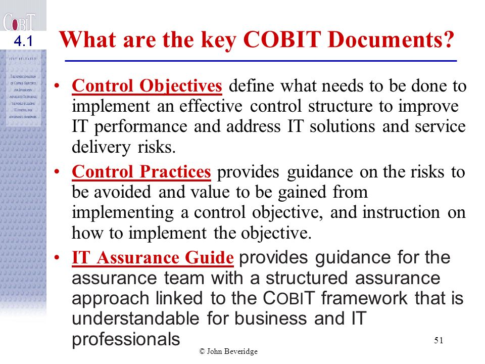What are the key COBIT Documents
