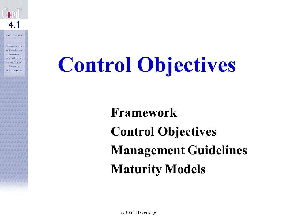 Framework Control Objectives Management Guidelines Maturity Models