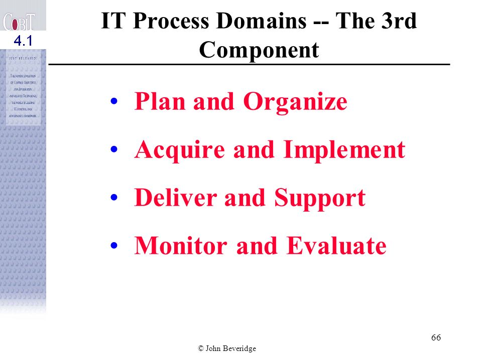 IT Process Domains -- The 3rd Component