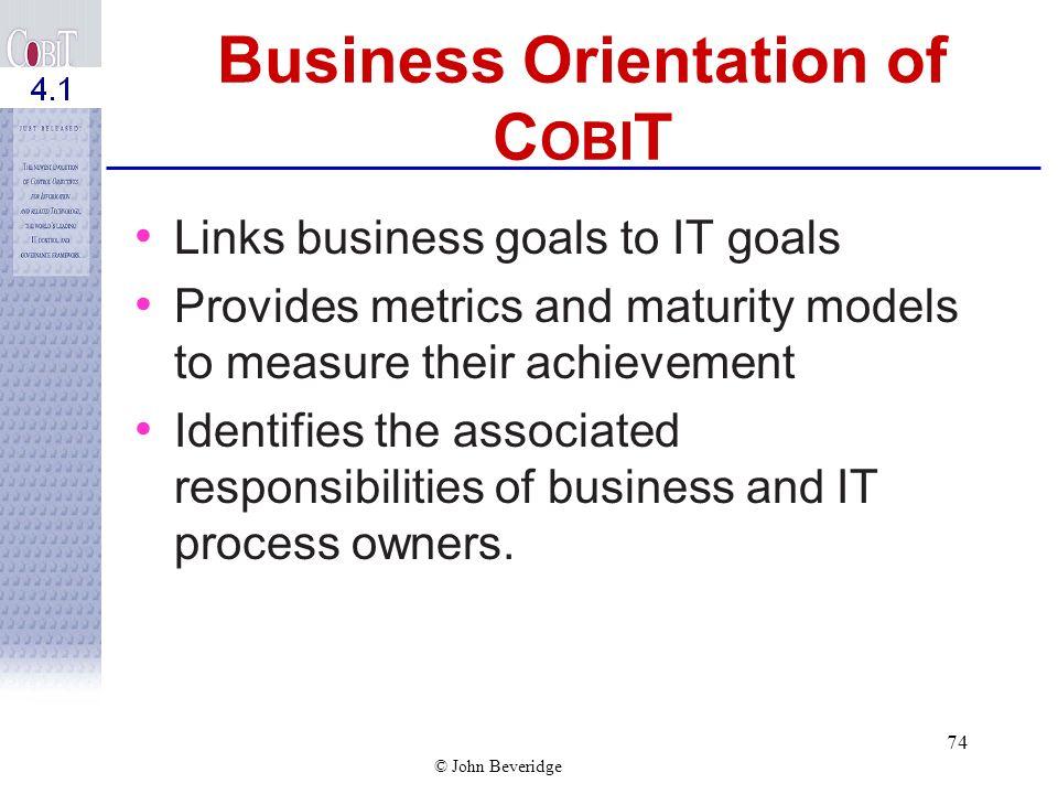 Business Orientation of COBIT