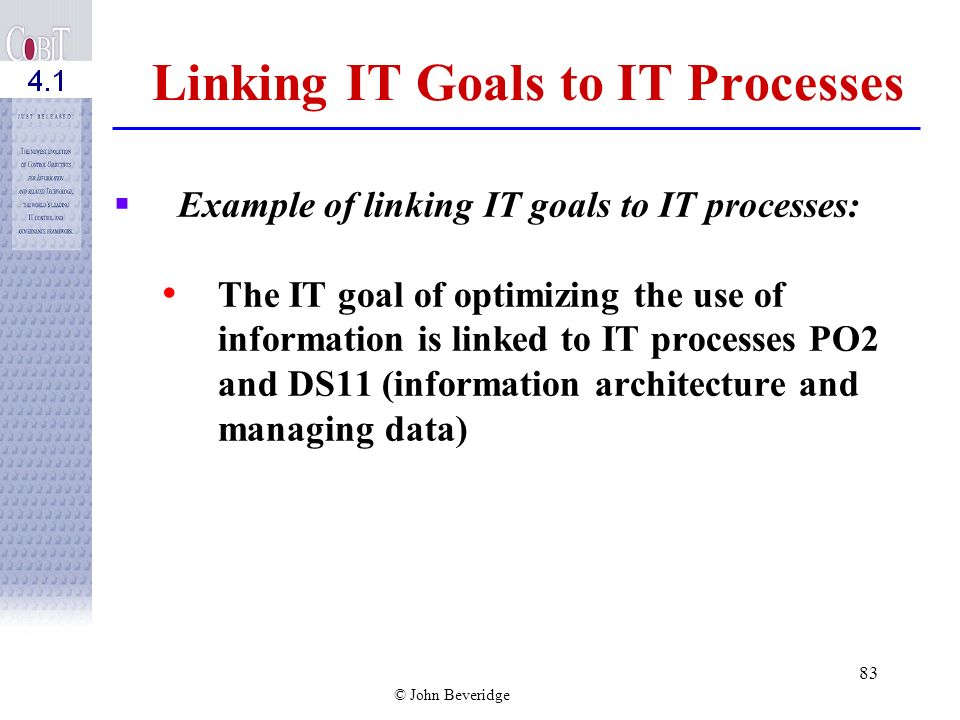 Linking IT Goals to IT Processes