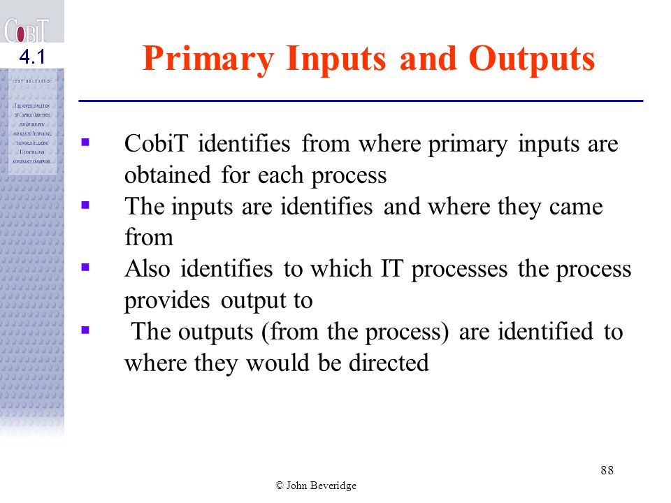 Primary Inputs and Outputs
