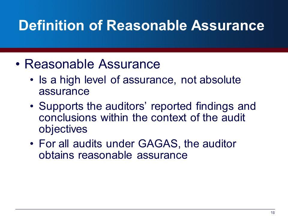 Definition of Reasonable Assurance