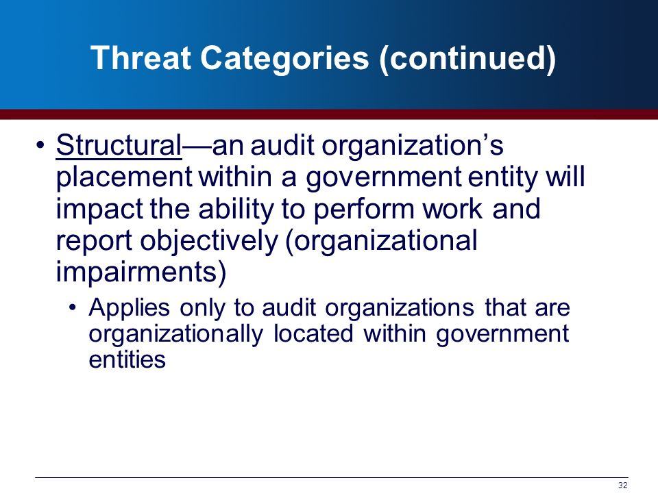 Threat Categories (continued)