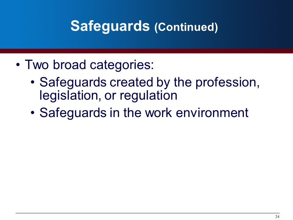 Safeguards (Continued)