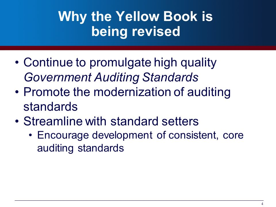 Why the Yellow Book is being revised