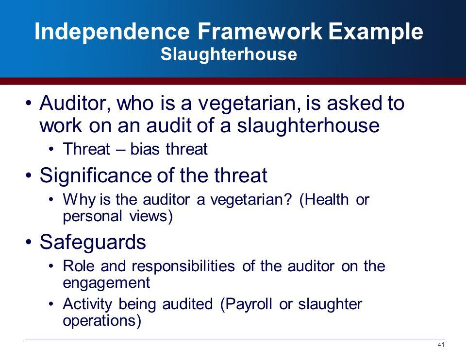 Independence Framework Example Slaughterhouse