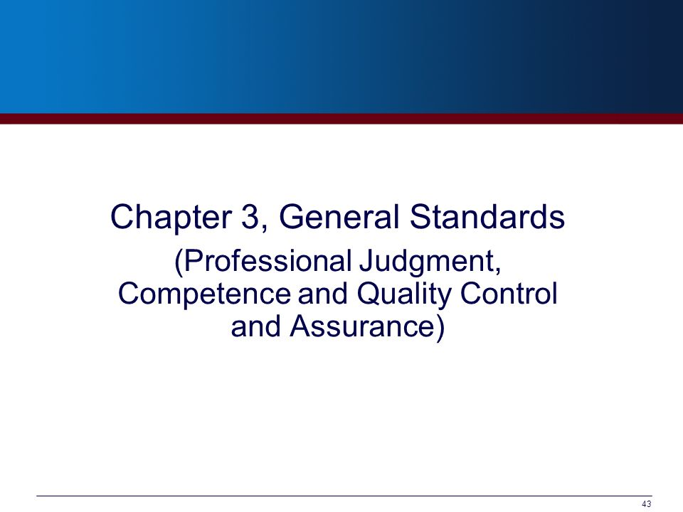Chapter 3, General Standards