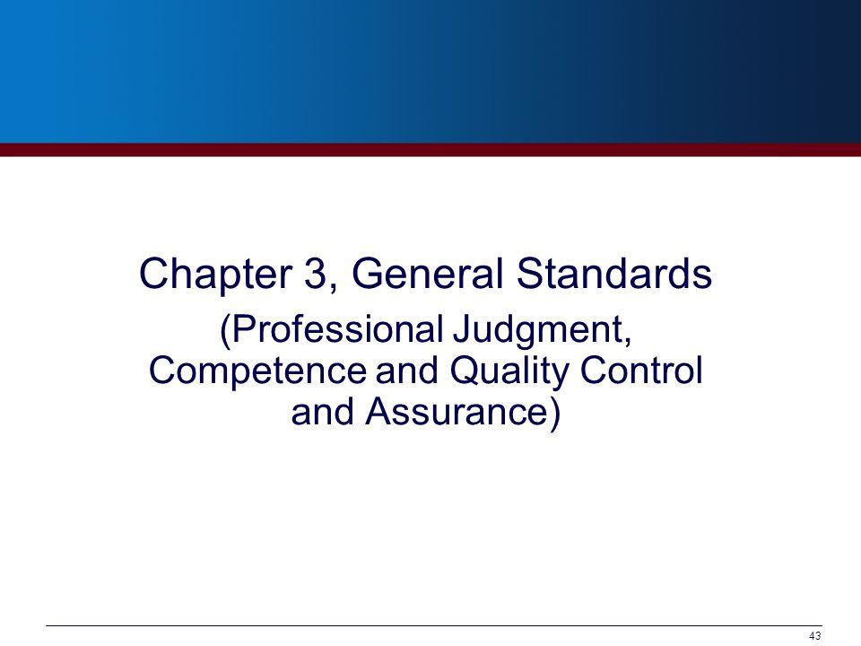 Chapter 3, General Standards