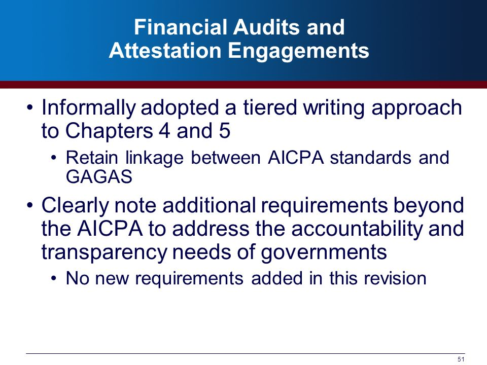 Financial Audits and Attestation Engagements