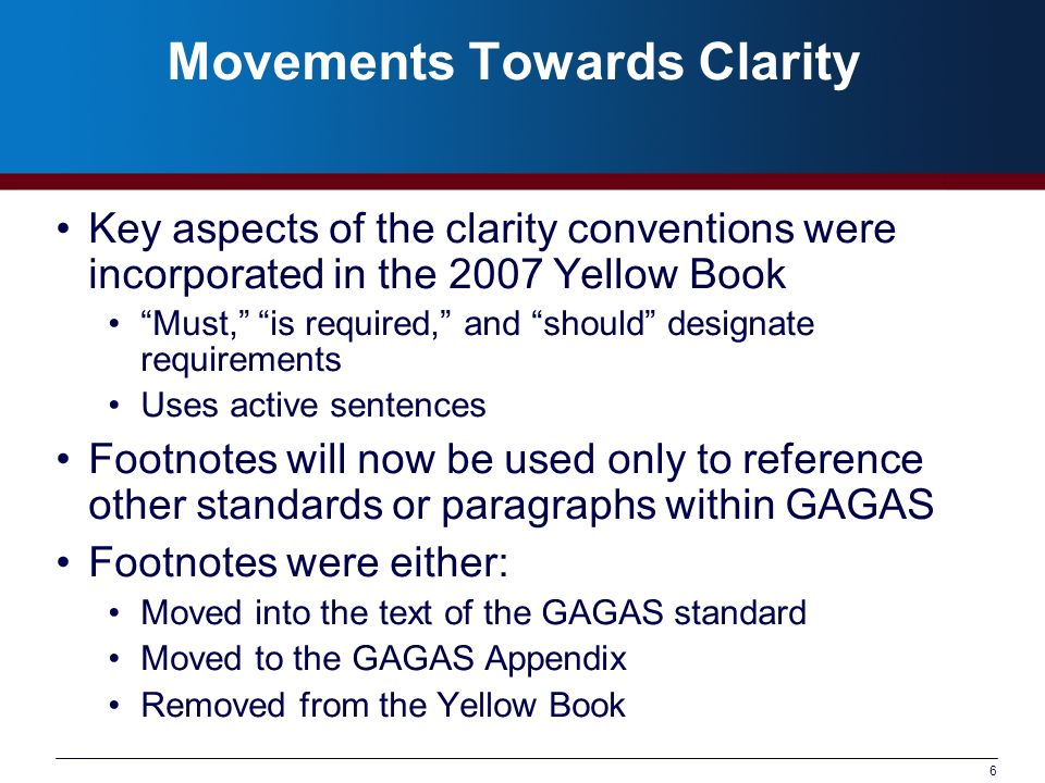 Movements Towards Clarity