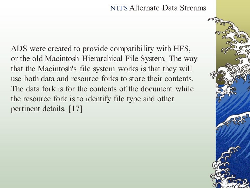NTFS Alternate Data Streams
