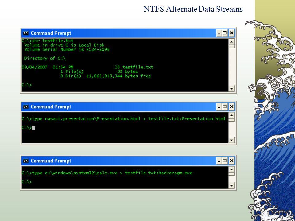 NTFS Alternate Data Streams