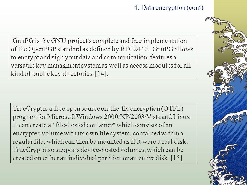 4. Data encryption (cont)