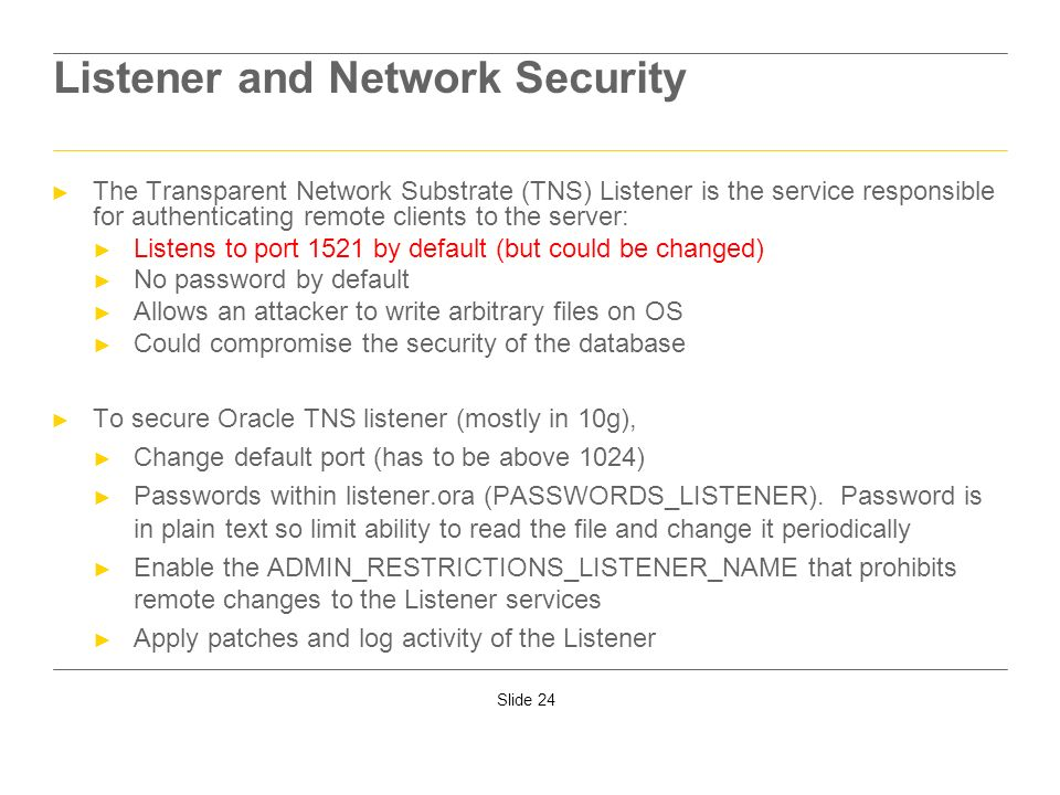 Listener and Network Security