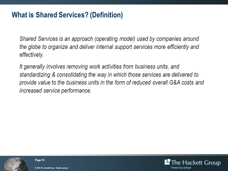 What is Shared Services (Definition)