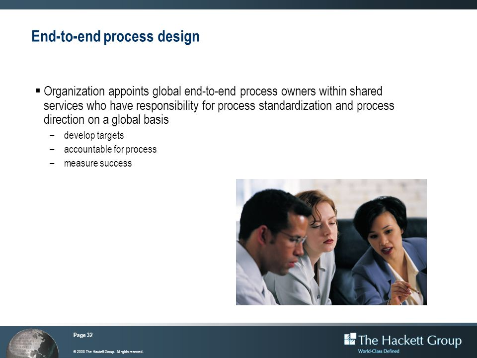 End-to-end process design
