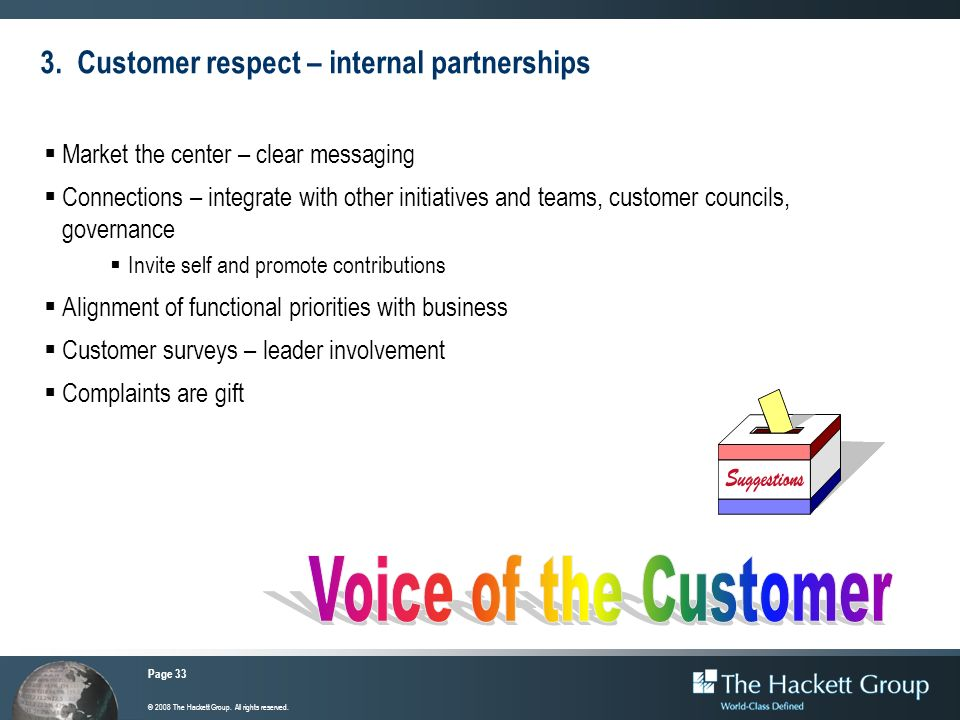 3. Customer respect – internal partnerships