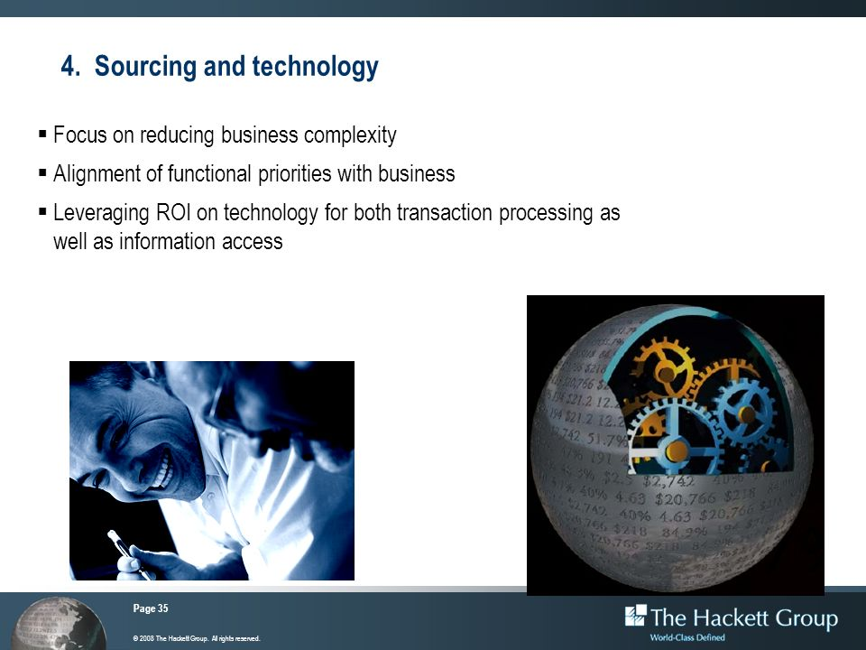 4. Sourcing and technology