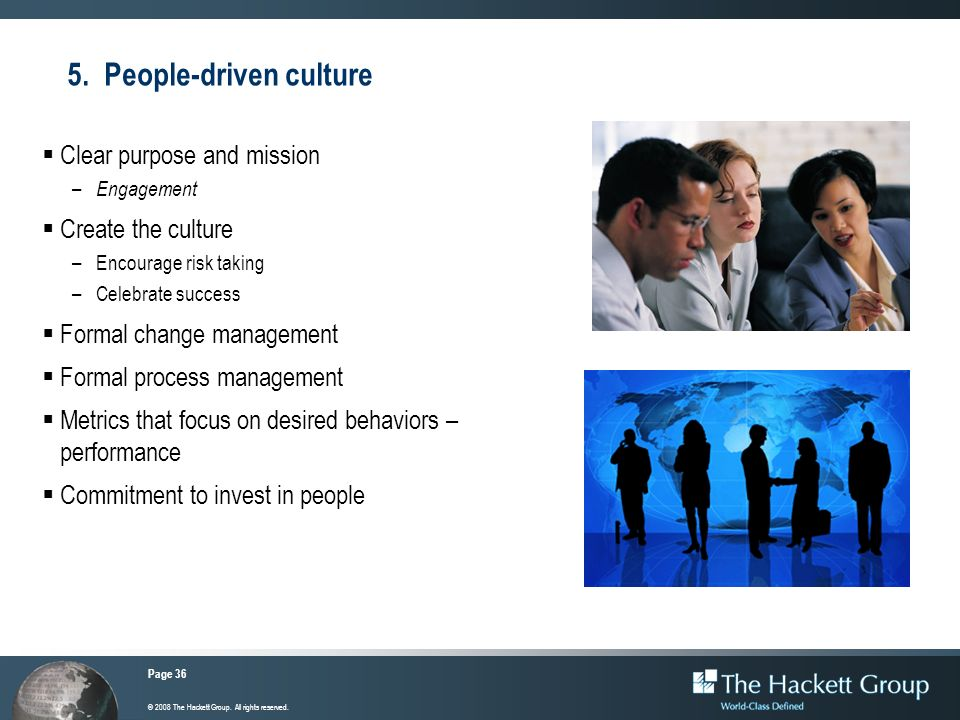 5. People-driven culture
