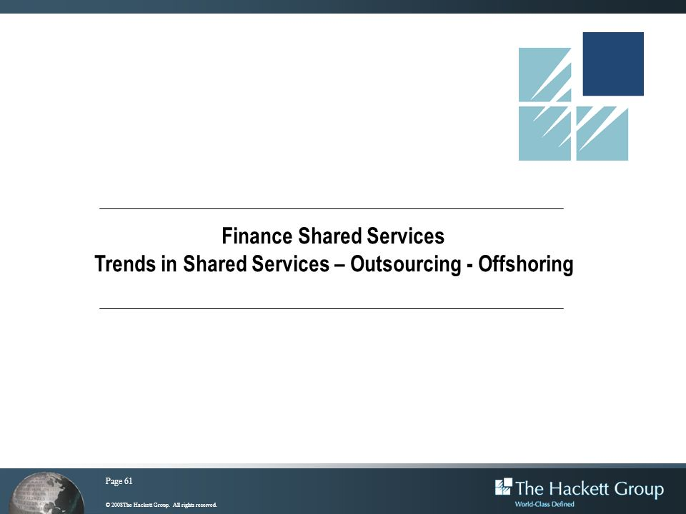 Finance Shared Services