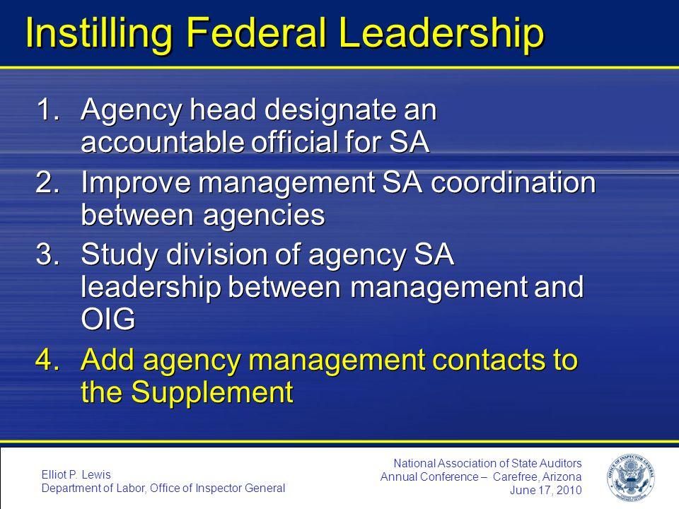 Instilling Federal Leadership