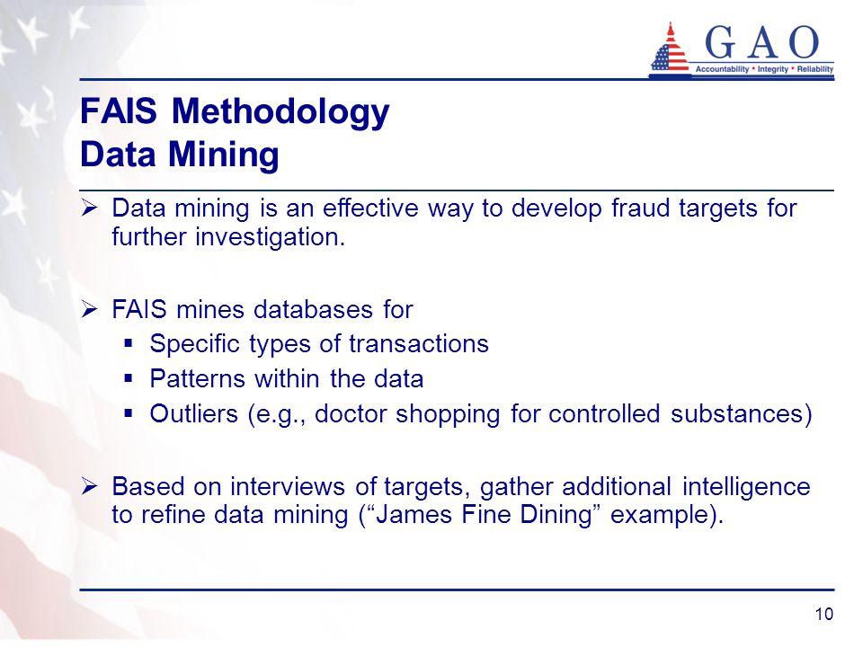 FAIS Methodology Data Mining