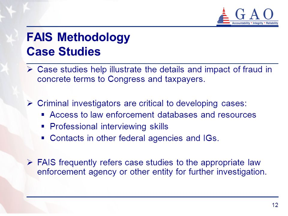 FAIS Methodology Case Studies