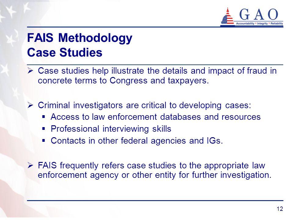 FAIS Methodology Case Studies