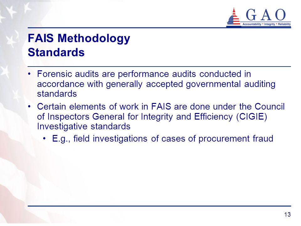 FAIS Methodology Standards