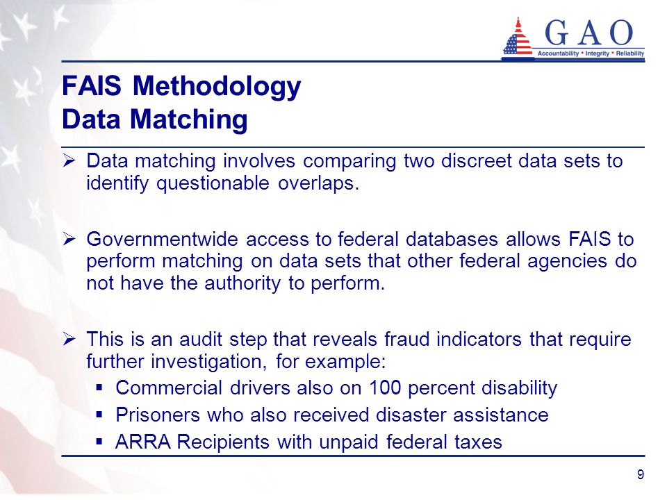 FAIS Methodology Data Matching