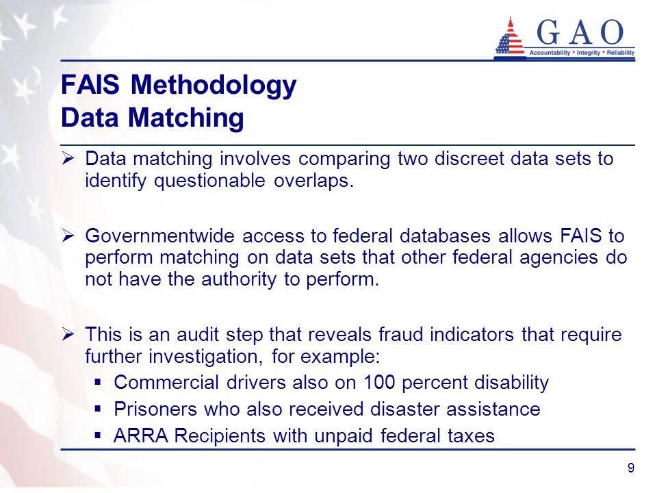 FAIS Methodology Data Matching