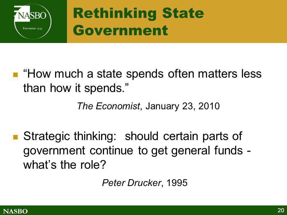 Rethinking State Government