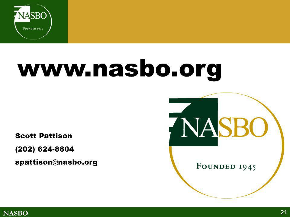www.nasbo.org Scott Pattison (202) 624-8804 spattison@nasbo.org
