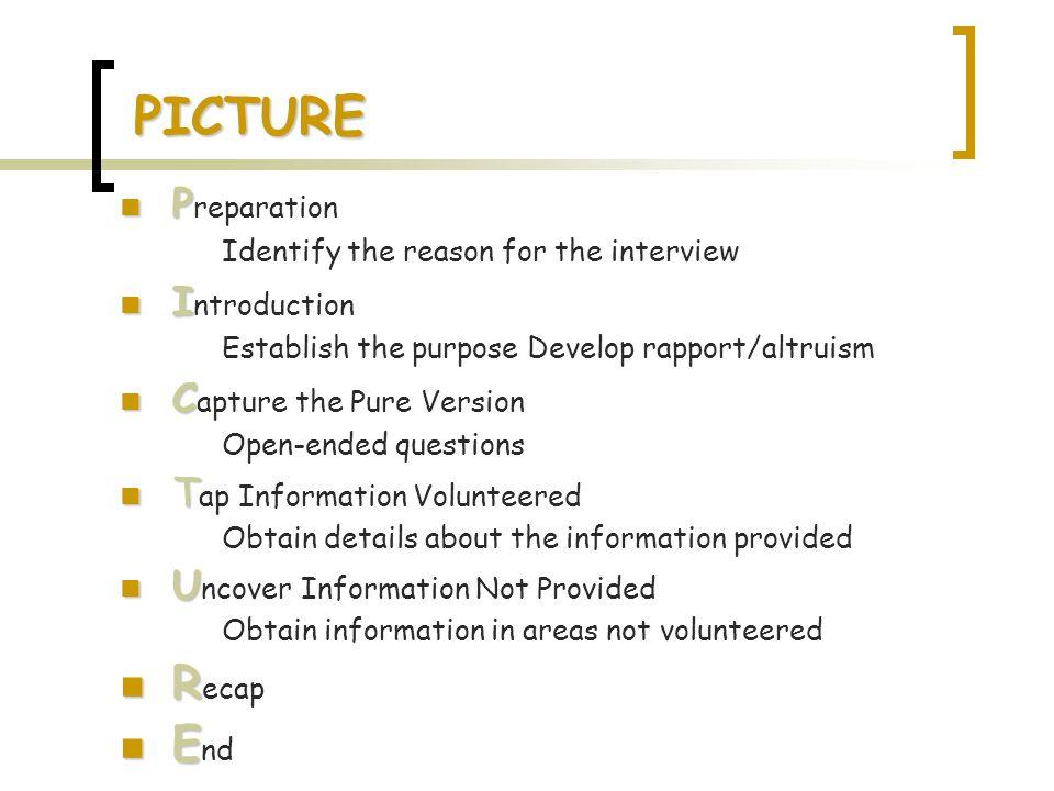 PICTURE Recap End Preparation Introduction Capture the Pure Version
