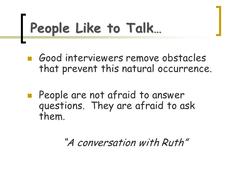 A conversation with Ruth