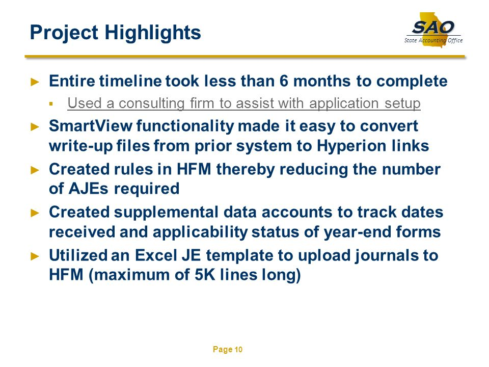 Project Highlights Entire timeline took less than 6 months to complete