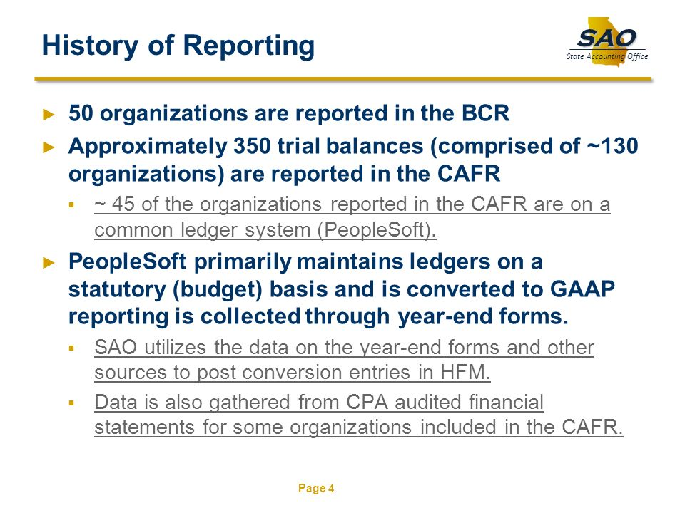 History of Reporting 50 organizations are reported in the BCR
