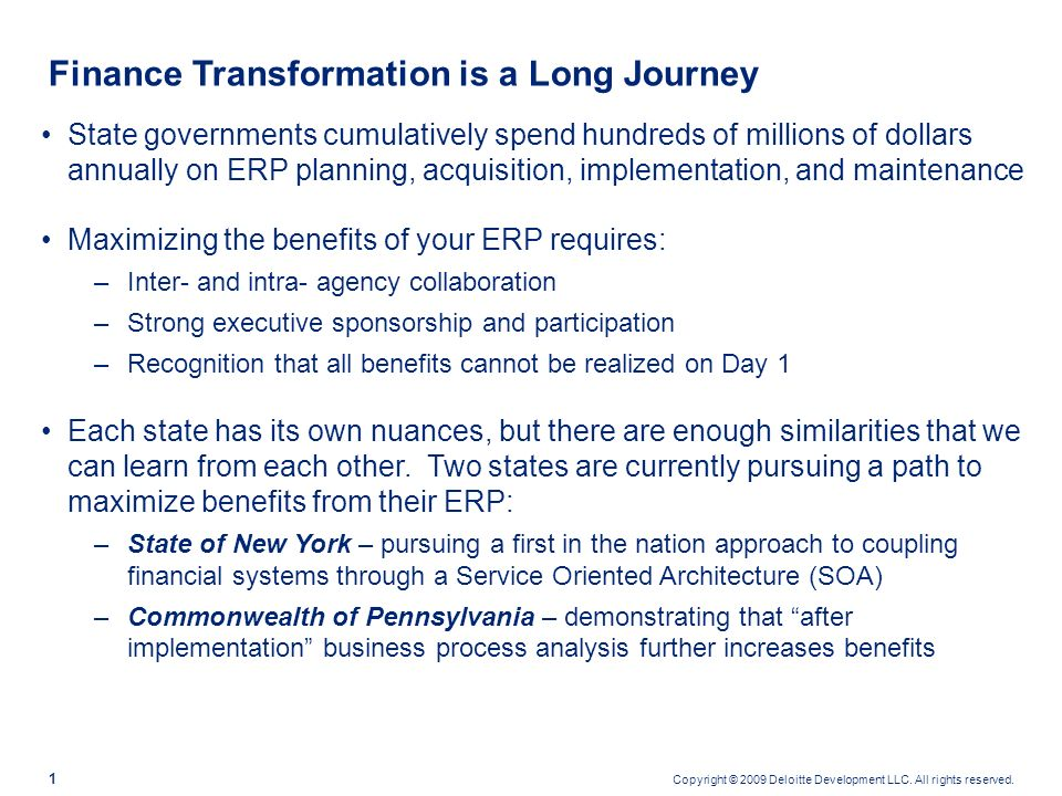 Finance Transformation is a Long Journey