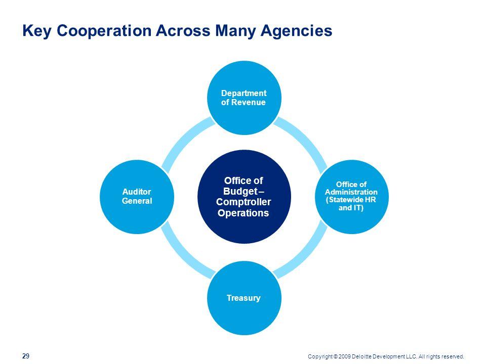 Key Cooperation Across Many Agencies