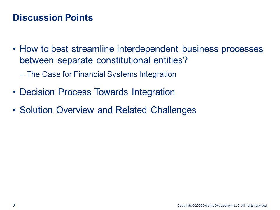 Decision Process Towards Integration