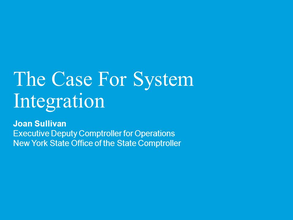 The Case For System Integration