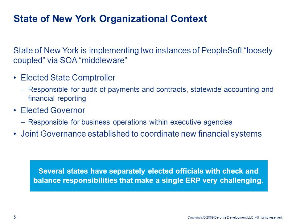 State of New York Organizational Context