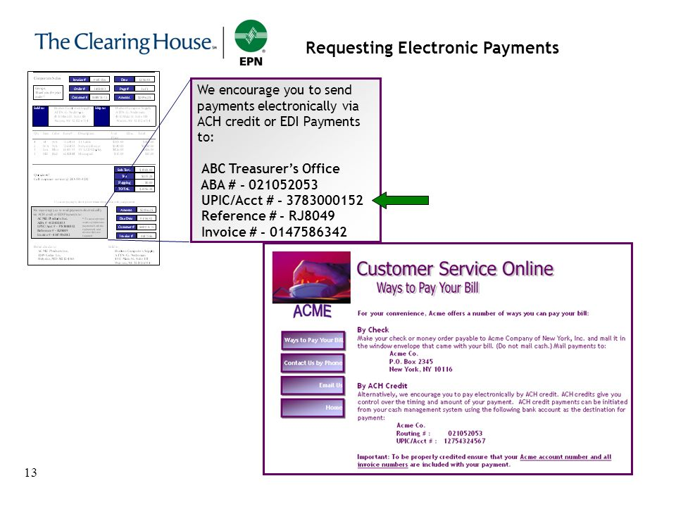 Requesting Electronic Payments