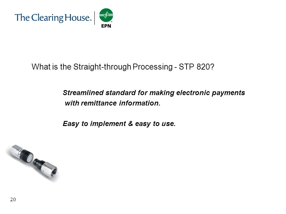 What is the Straight-through Processing - STP 820