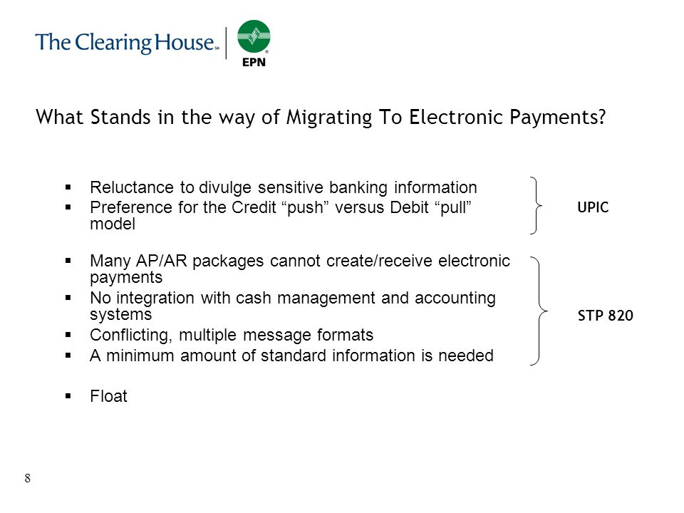 What Stands in the way of Migrating To Electronic Payments