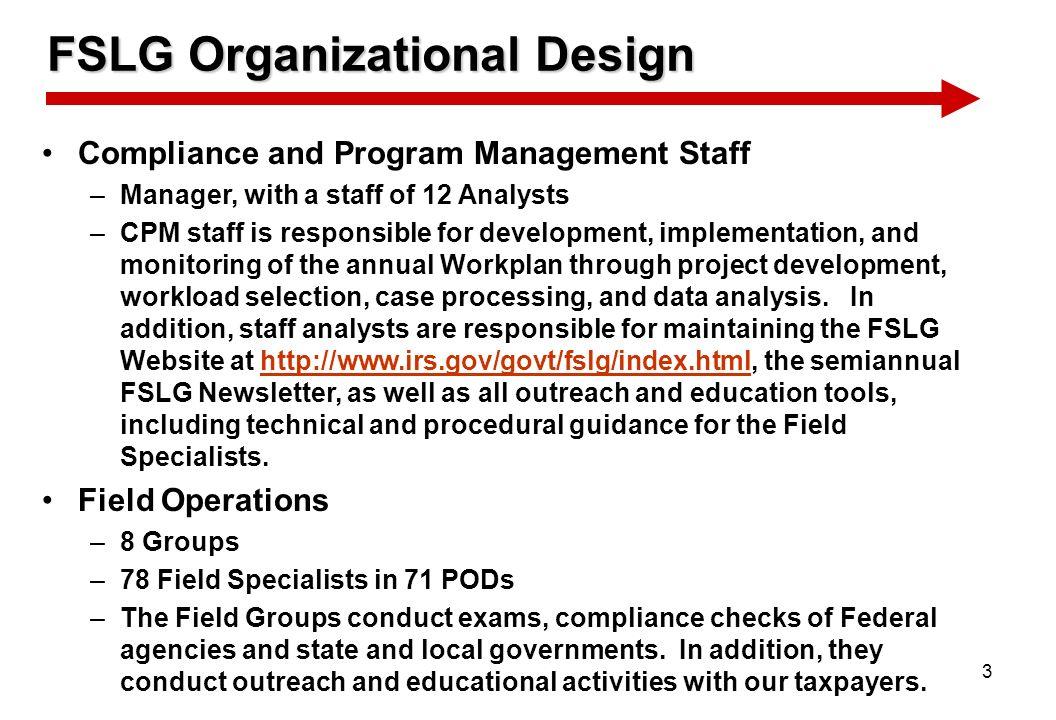 FSLG Organizational Design