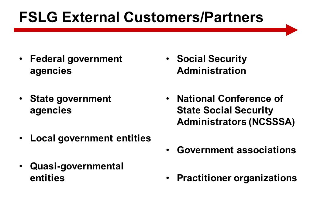 FSLG External Customers/Partners